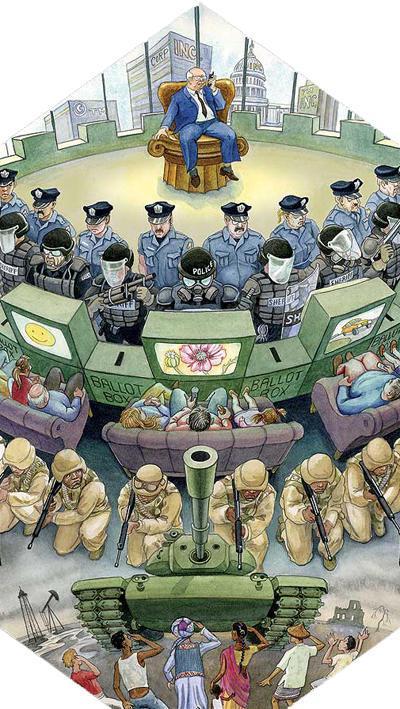 Pyramide des Kapitalismus
