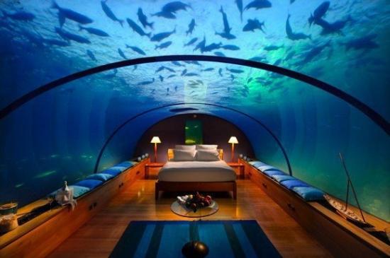 Unterwasser Schlafzimmer